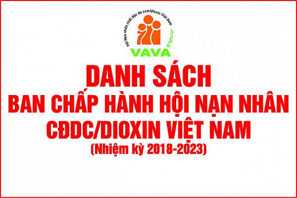 Danh sách Ban Chấp hành Hội Nạn nhân CĐDC/dioxin VIệt Nam, Khóa IV, nhiệm kỳ 2018 - 2023