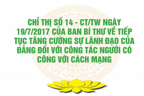 Chỉ thị số 14 - CT/TW ngày 19/7/2017 của Ban Bí thư