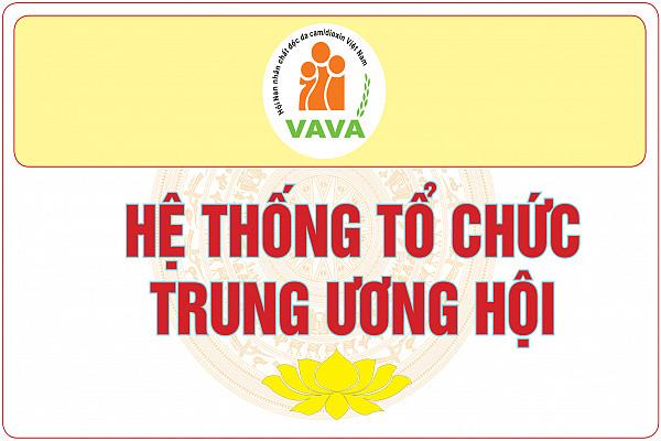 Hệ thống tổ chức Cơ quan Trung ương Hội Nạn nhân chất độc da cam/dioxin Việt Nam
