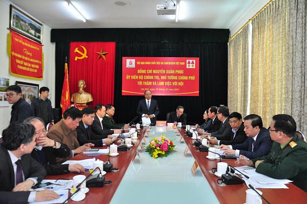 Thông báo Kết luận của Thủ tướng Chính phủ Nguyễn Xuân Phúc tại buổi thăm và làm việc với Trung ương Hội Nạn nhân chất độc da cam/dioxin Việt Nam